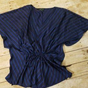 Ralph Lauren blue asian inspired top